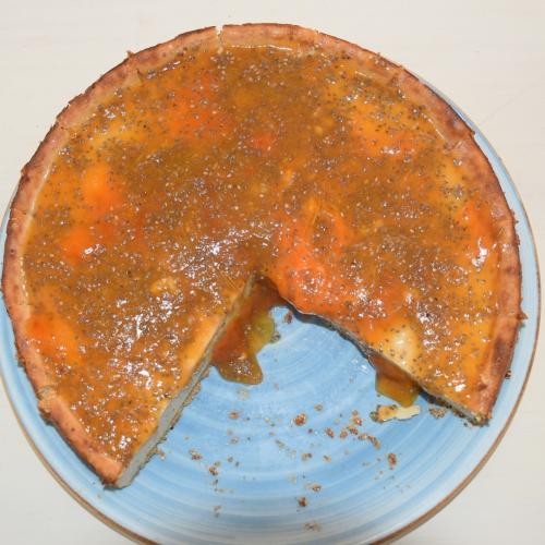 tarta de yogur con persimon y chia